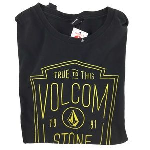 Volcom Large Black and Yellow T w/ Volcom Design